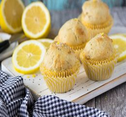 photo muffins with chia lemon