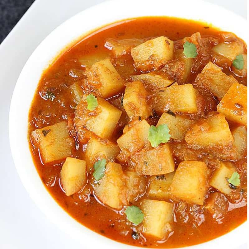 Aloo Curry με πατάτα